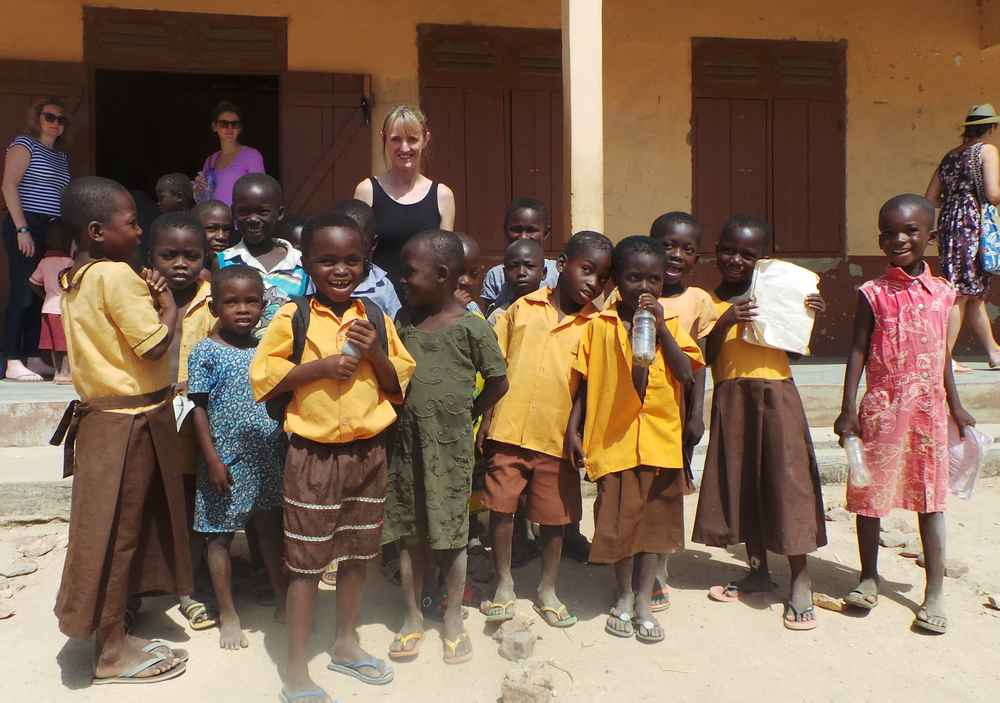 Giving back - Lisa with Afrikids