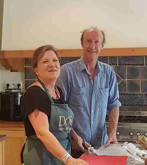 Sarah and Nick hosting fantastic holidays at Domaine Saint Hilaire
