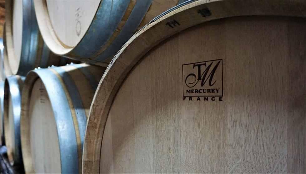 Top quality Mercurey barrels at the award winning winery Domaine Saint Hilaire